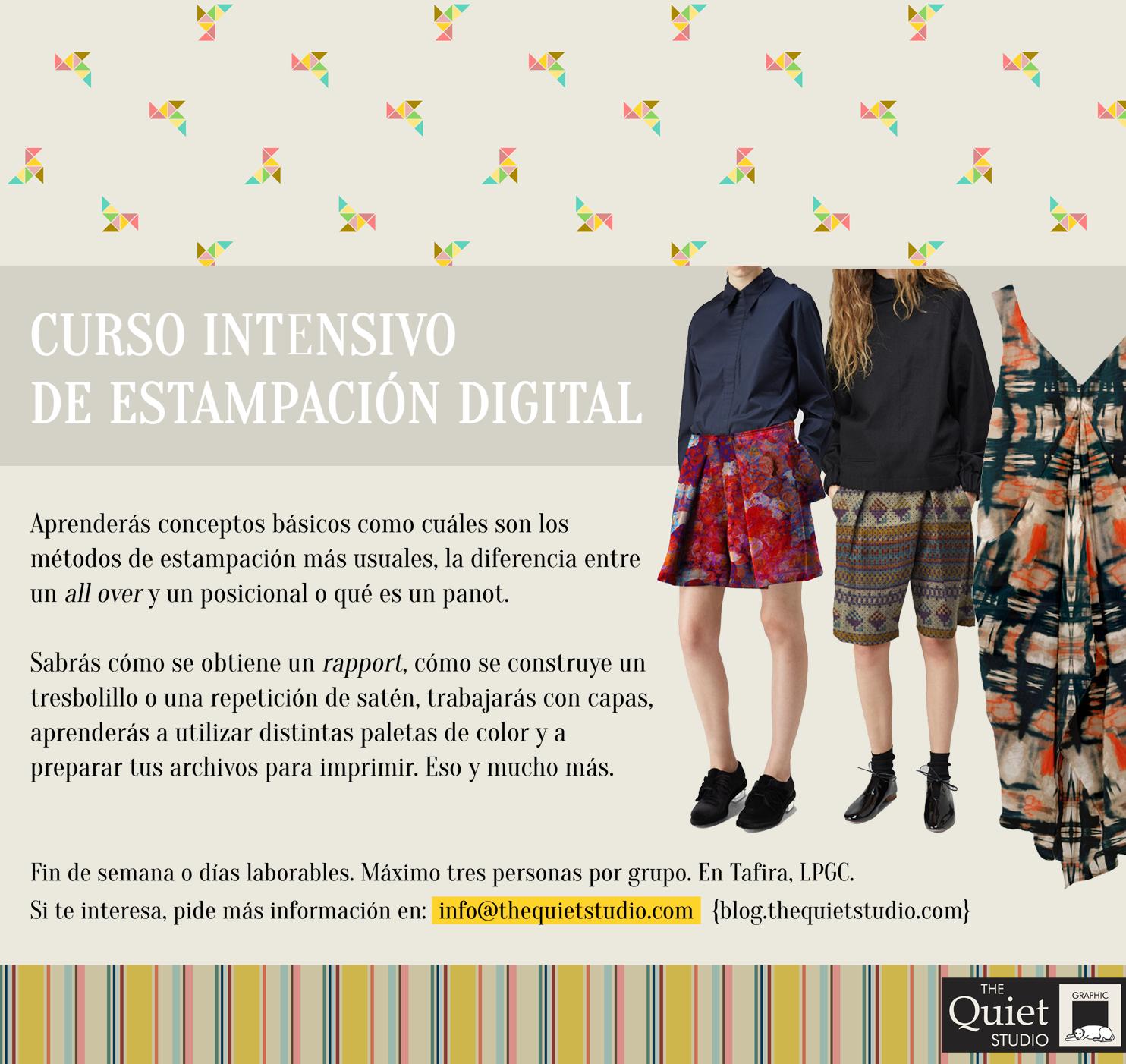 Curso intensivo de estampación digital